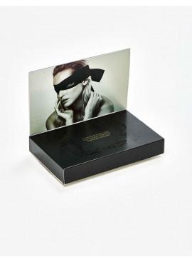 Bandeau pour les yeux Shhh - Satin noir - 198 cm
