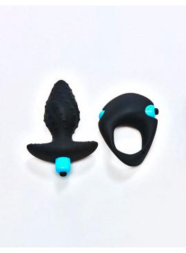 Pack Plug vibrant & Cockring vibrant ROCKS OFF Ibex Men-X
