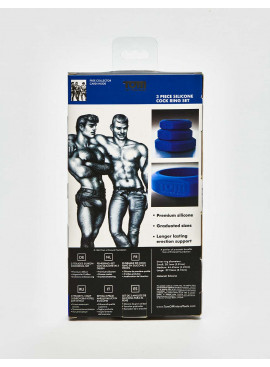 Pack Anneaux Péniens Tom of Finland 3 Piece Silicone packaging dos