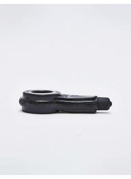 Cockring silicone noir Turbo posé