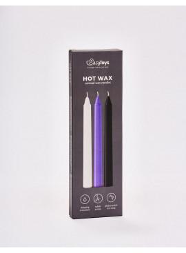 Lot de 3 bougies SM Sensual Hot Wax packaging