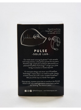 Masturbateur vibrant Hot Octopuss Pulse Solo Lux Packaging dos