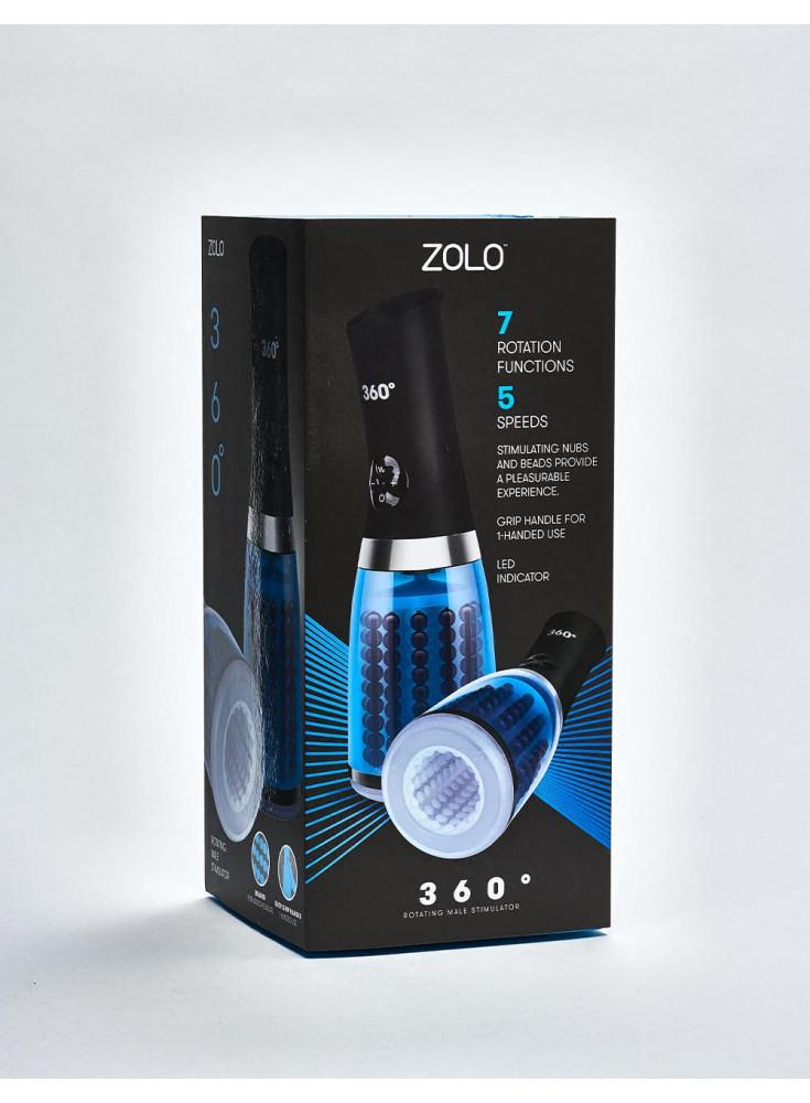 Masturbateur vibrant ZOLO 360° Rotating Male Stimulator packaging coté