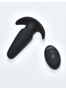 Plug Anal Noir Thump-It Silicone avec télécommande