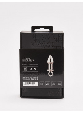 Plug anal Tunnel Sinner en métal packaging dos