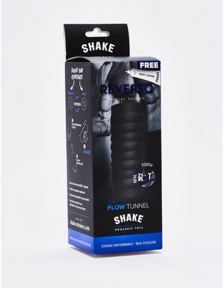 Masturbateur Flow Tunnel - Shake - 15 cm - Noir packaging