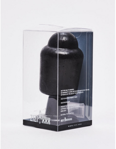 Plug anal noir Magnus de 14 cm packaging