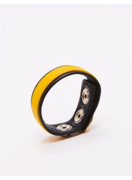 Cockring cuir jaune Black Label